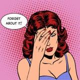 Oubliez lui la mémoire d'émotions de femme Image stock