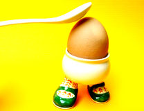 Ouch!. Run, little egg, run royalty free stock photos