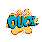 Ouch comic word. Pop art retro vector illustration Stock Images