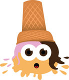 Ouch - Ice Cream falls to the ground Royalty Free Stock Photos