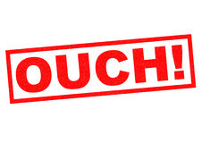 OUCH!. Red Rubber stamp over a white background Royalty Free Stock Images