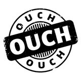 Ouch rubber stamp Royalty Free Stock Photography