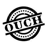 Ouch rubber stamp Stock Photos
