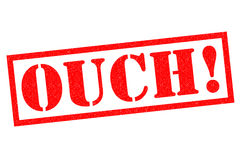 OUCH! Rubber Stamp Royalty Free Stock Photos