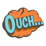 Ouch, speech bubble icon  Stock Images