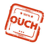 Ouch stamp. Illustration of red rubber stamp Stock Photo