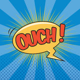 OUCH! Wording Sound Effect Royalty Free Stock Photo