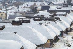 Ouchijuku på Fukushima, Japan Arkivbild