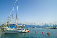 Ouchy port marina in Lausanne Royalty Free Stock Photos