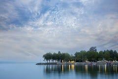 Ouchy portuário no amanhecer Foto de Stock Royalty Free