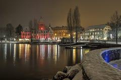 Ouchy slott, Lausanne, Schweiz Royaltyfri Fotografi