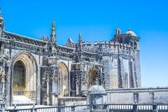 Oud 600 éénjarigenkasteel in Tomar, Portugal Stock Foto's