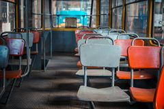 Oud abandoden tram Royalty-vrije Stock Fotografie