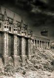Oud achtervolgd kasteel Stock Foto