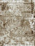 Oud affiche grunge Royalty-vrije Stock Afbeeldingen