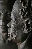 Oud Afrikaans mensengezicht Royalty-vrije Stock Afbeelding