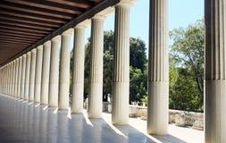 Oud Agora Athene Stock Foto's