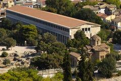 Oud Agora van Athene Stock Afbeeldingen