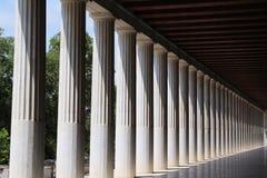 Oud Agora van Athene Stock Foto's