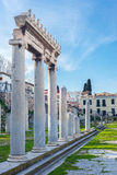 Oud Agora van Athene Royalty-vrije Stock Afbeeldingen