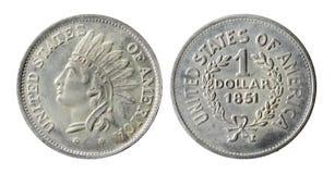 Oud Amerikaans muntstuk Stock Foto's