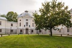 Oud Anatomisch Theater in Tartu, Estland stock foto's