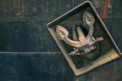 Oud anker Stock Fotografie