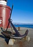 Oud anker in Alesund, Noorwegen stock foto