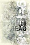 Oud antiek afficheart. Stock Foto's