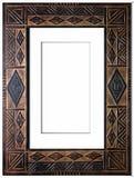 Oud antiek frame over witte achtergrond Stock Foto's