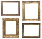 Oud antiek frame - reeks stock afbeeldingen