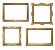 Oud antiek frame vier - reeks Stock Foto's