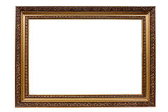 Oud antiek gouden frame Royalty-vrije Stock Foto's