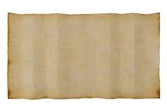 Oud antiek leeg document op witte achtergrond Stock Foto