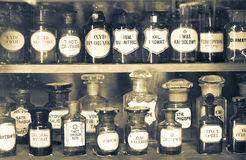 Oud apotheekmuseum Stock Foto