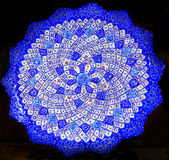Oud Arabisch Islamitisch Ontwerpen Blauw Aardewerk Madaba Jordanië Stock Fotografie