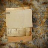 Oud archief met brieven, foto's stock foto