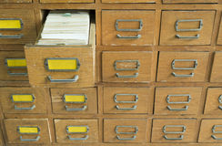 Oud archief met laden Stock Afbeeldingen