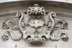 Oud architecturaal element schild Stock Fotografie