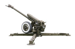 Oud artilleriekanon Royalty-vrije Stock Foto's