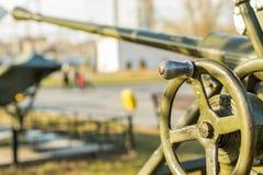 Oud artilleriekanon Stock Foto