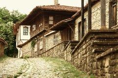 Oud authentiek Bilgarian-huis in architecturaal-Etnografische Complex bulgarije Stock Foto