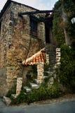 Oud baksteen en steenhuis royalty-vrije stock fotografie