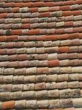 Oud baksteendak Stock Foto