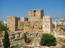 Oud baksteenslot in Libanon Stock Fotografie