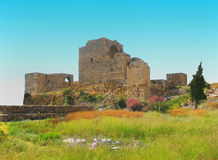 Oud baksteenslot in Libanon Royalty-vrije Stock Fotografie