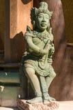 Oud Balinees standbeeld royalty-vrije stock afbeelding