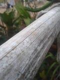 Oud bamboe aan oude mens Royalty-vrije Stock Foto