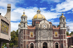 Oud Basiliekheiligdom van Guadalupe Mexico City Mexico royalty-vrije stock fotografie