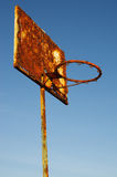 Oud basketbal royalty-vrije stock afbeeldingen